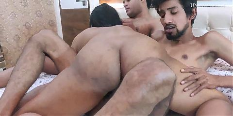 Hot Indian Girl With Two Boys