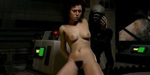 Sigourney Weaver gets fucked by The Alien – best sfm animation