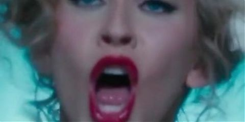 Christina Aguilera Tongue loop #1