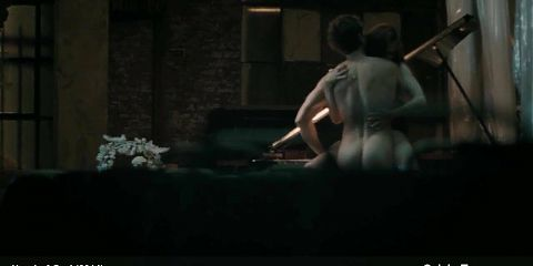 Elizabeth McLaughlin has exciting sex on the piano